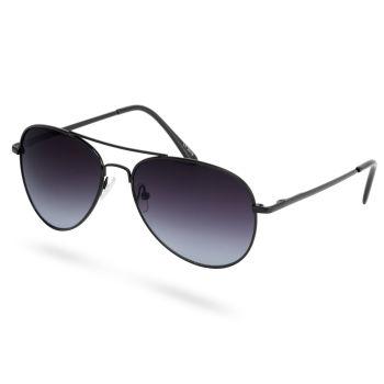 Óculos de Sol Pretos Estilo Aviador