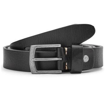 Úzký černý kožený pásek