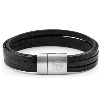 Black & Steel Six Cord Bracelet