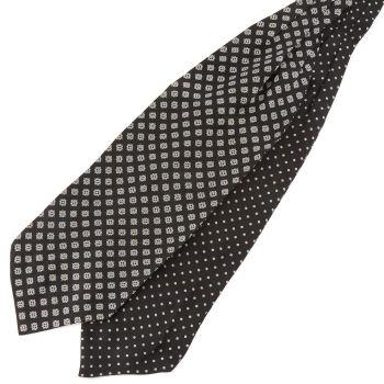 Geometrinen Polka Dots silkki ascot-solmio