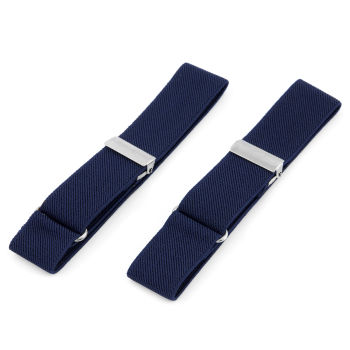 Elastické pásky na rukávy v námořnické modré