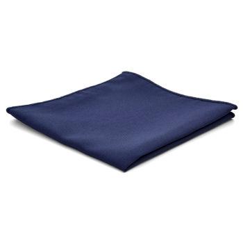 Carré de poche classique bleu marine
