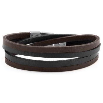 Brown & Steel Roy Double Wrap Bracelet