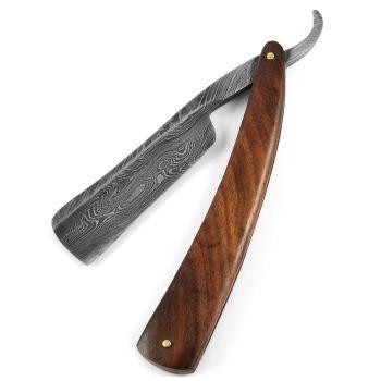 """Palisander Damaskusstål barberkniv 7/8 """""""