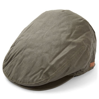 Gorra plana de lona gris