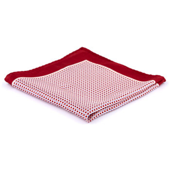 Red Polka Dots Silk Pocket Square