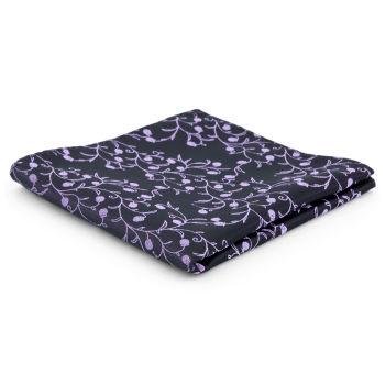 Pañuelo de bolsillo de poliéster berenjena y lavanda