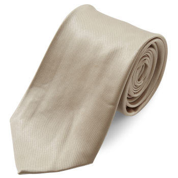 Gravata Simples Cor de Champanhe Brilhante de 8 cm