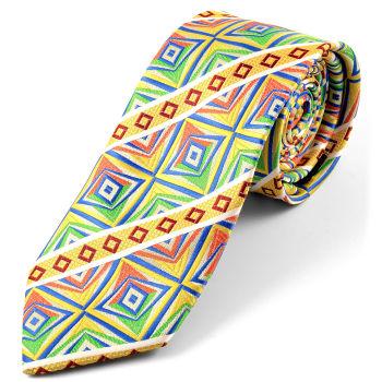 Corbata de seda multicolor