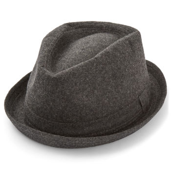 Chapéu Trilby Cinzento