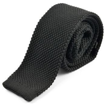 Corbata negra de punto