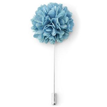 Flor de Lapela Azul Céu