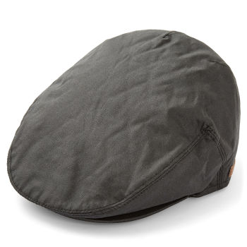 Gorra plana de lona negra