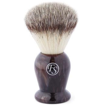 Brocha de afeitar sintética marrón nuez
