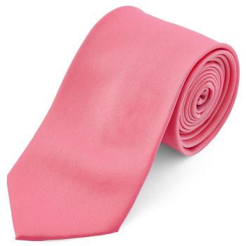 Corbata básica rosa chillón 8 cm