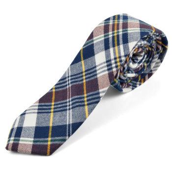 Cravatta di lana Forest Man blu
