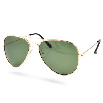 Guld Polariserede Aviator Solbriller