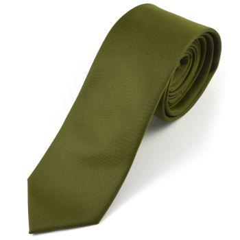 Corbata verde militar hecha a mano