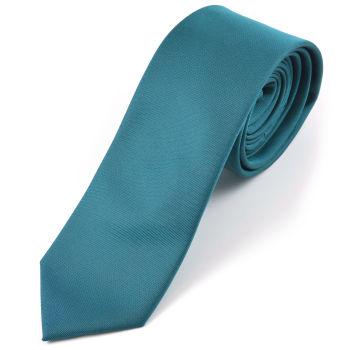 Corbata verde azulado hecha a mano