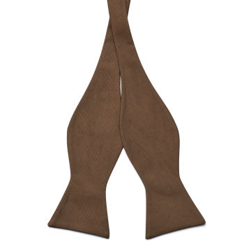 Pajarita para atar marrón camel
