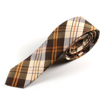 Corbata a rayas marrón