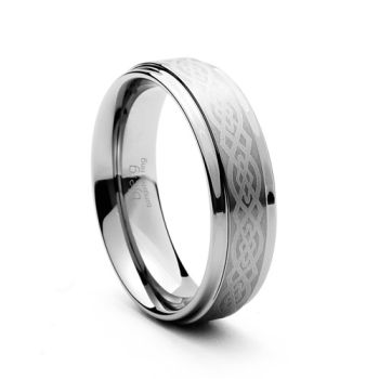 Celtic 6mm Tungsten Ring