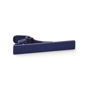 Pasador de corbata corto azul marino mate