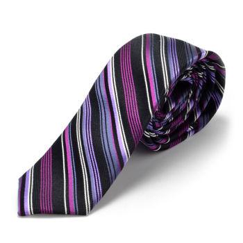 Corbata morada de seda