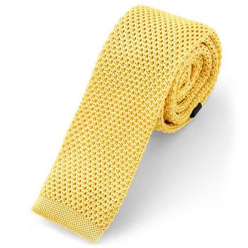 Corbata de punto dorado