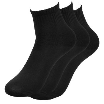 3-Pakk Svarte Sokker - Størrelse 40-45