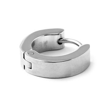 Plain Round Steel  Earring