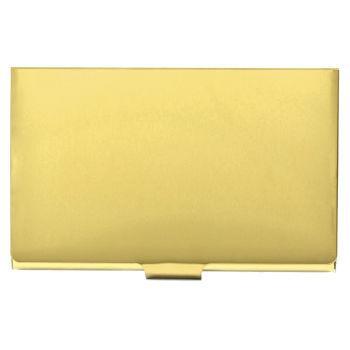 Stalowe etui na karty w kolorze złota