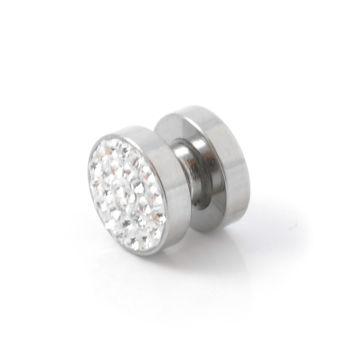 Brinco Magnético com Zircónia de 10 mm