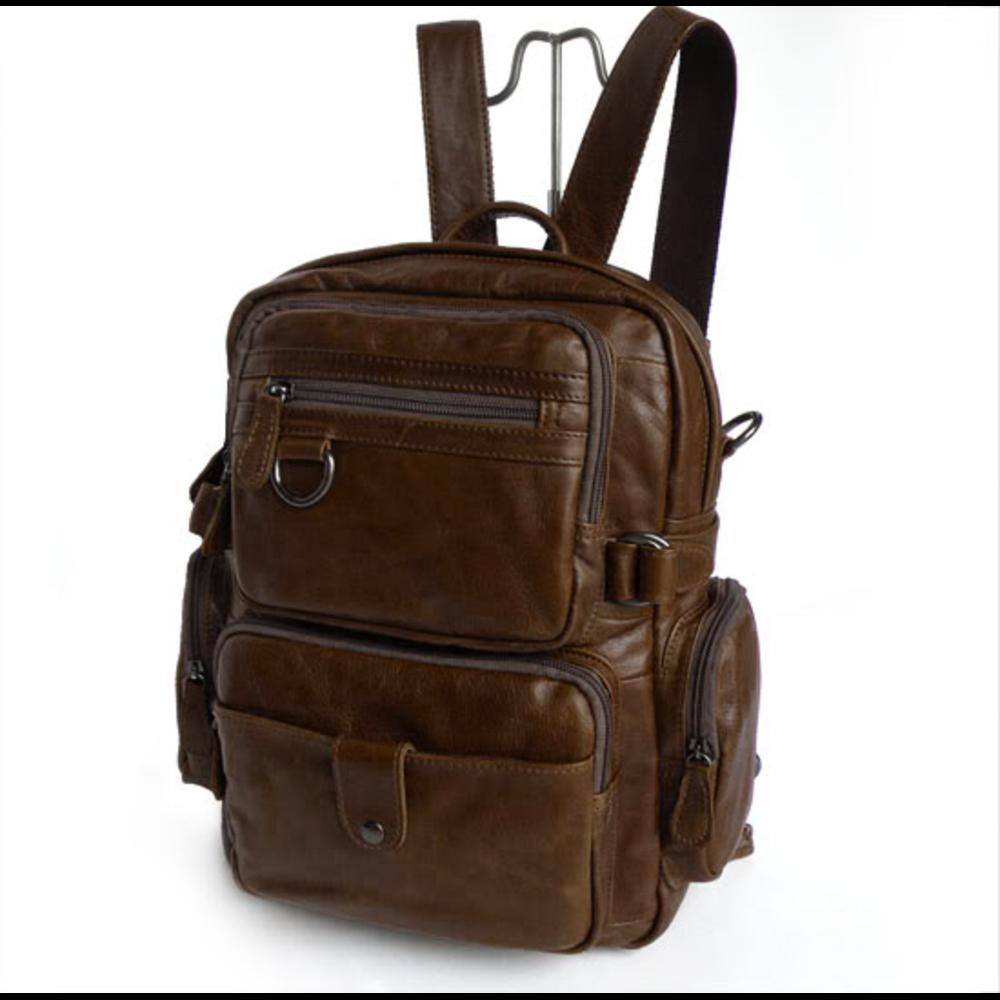 Vintage Gratuita PelleSpedizione Zaino Multifunzione In Delton Bags n0wN8Ovm