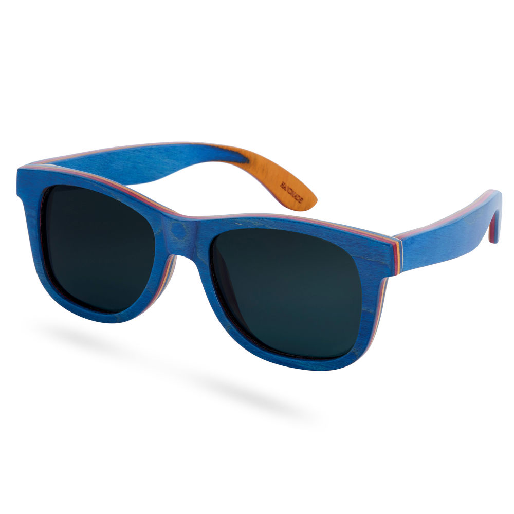 Blaue Polarisierte Skateboard Holz Sonnenbrille W5BYS0
