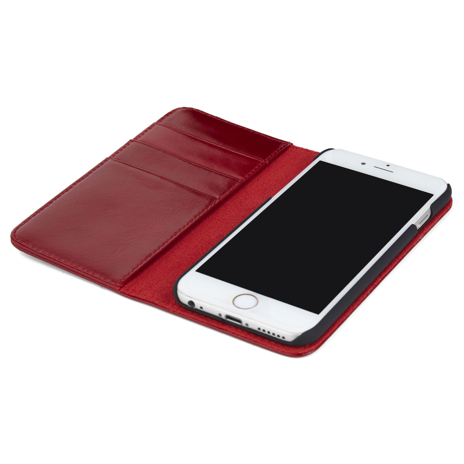 Per Custodia 7 Rossa Iphone In Pelle qRRZxTwzU