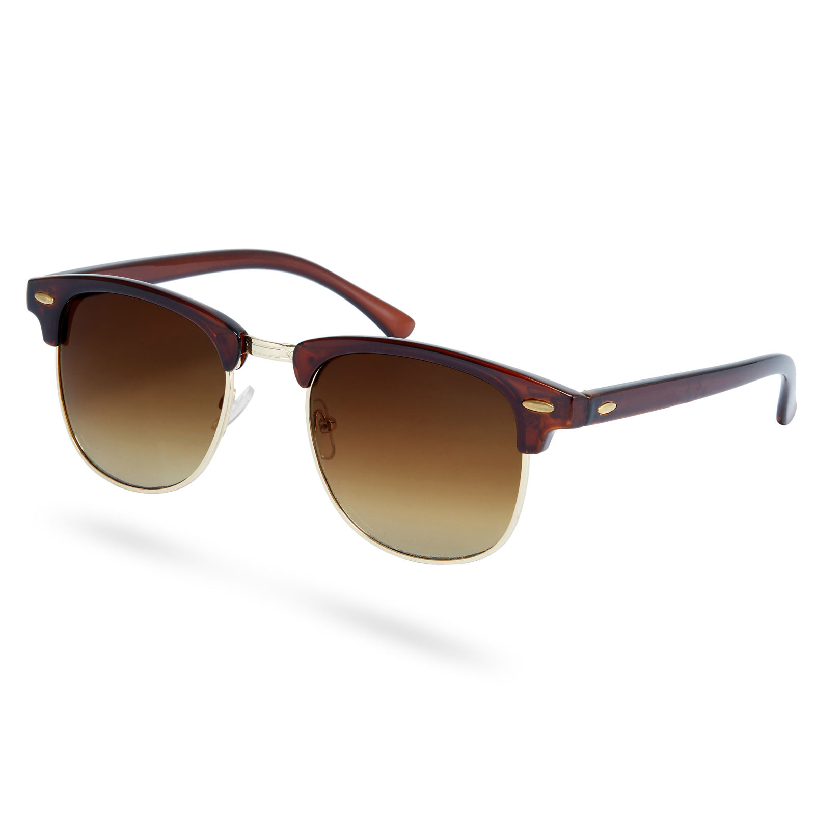 Browline Ebenholz Sonnenbrille Mit Getönten Polarisierten Sonnenbrillengläsern IG7iA