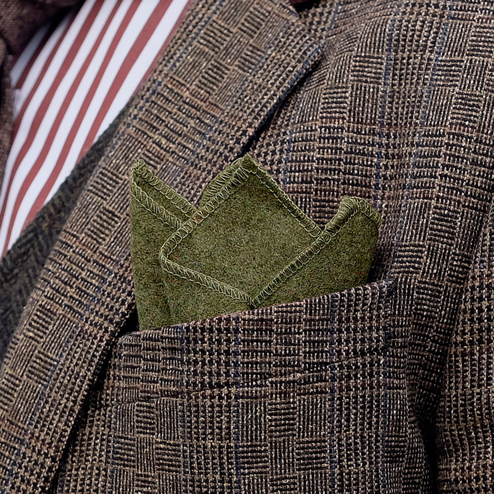 Raw Handmade Green Wool Pocket Square Trendhim hrcPU4Z