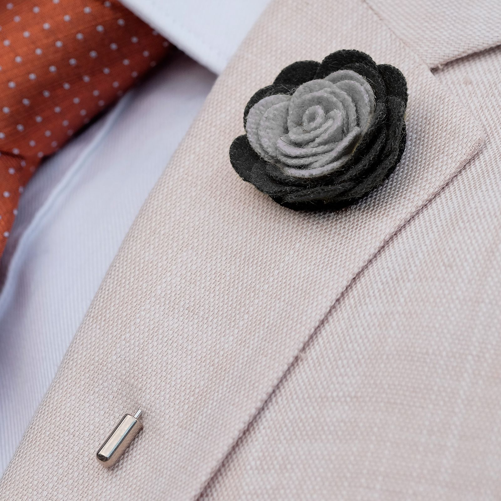 Soft Black & Grey Lapel Flower Trendhim Cheap Sale Inexpensive svT89S5yUj