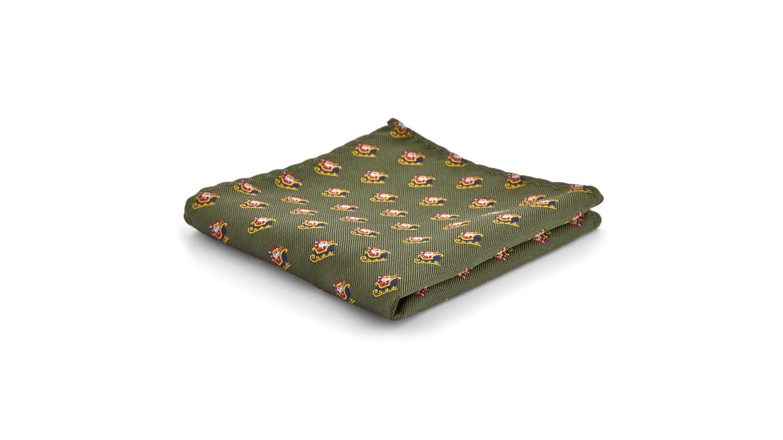 Taschino Slitte Babbo Disponibile Fazzoletto Con Natale Di Da R15qwq