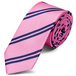 Marine Bande Double Cravate 8cm Soie Rose Trendhim jpzpte0Dp
