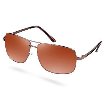 Quadratische Kaffeebraune Polarisierte Sonnenbrille vqzlkLd