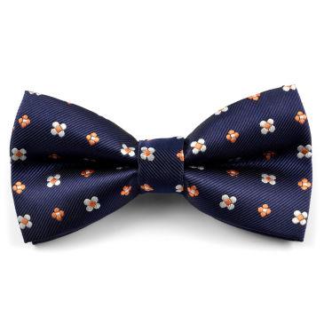 Pink & Blue Abstract Cotton Self Tie Bow Tie Trendhim IjiBrm