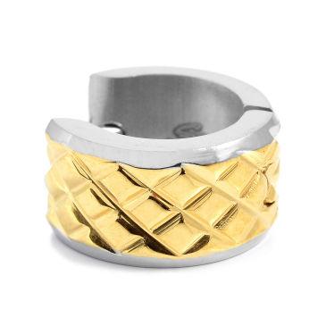 Round Twin Gold & Silver Earring Trendhim 12OaGM7ui