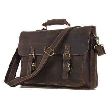 Dark Brown Student Leather Bag Delton Bags SPJybR