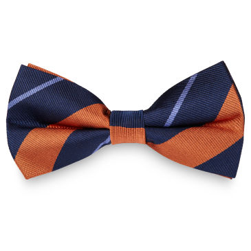 Pink & Pastel Blue Stripe Navy Silk Bow Tie Trendhim RUQcyqD