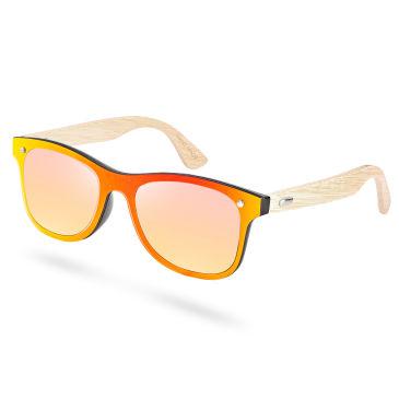 Gelbe & Rote Bambus Sonnenbrille FxpYipo