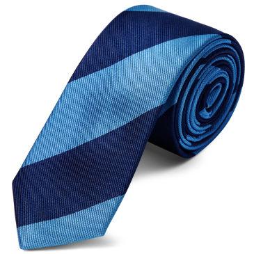 Azul Y Banda Armada 6cm De Seda De La Corbata Trendhim L5vcLqu54