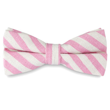Pink Polka Dot Silk Self Tie Bow Tie Trendhim CX617R