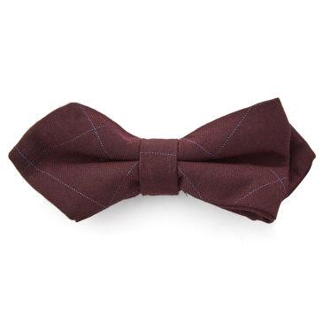 Navy Geometric Silk Pre-Tied Bow Tie Trendhim RQwGCfA